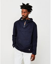 Armor Lux - Hooded Fisherman's Smock Jacket Navy - Lyst