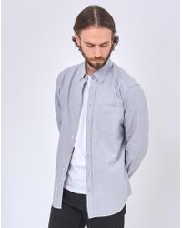The Idle Man - Relaxed Modern Fit Oxford Shirt Grey - Lyst
