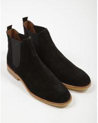 c0bbb0a8501d Hudson Jeans - Adlington Suede Chelsea Boot Black - Lyst