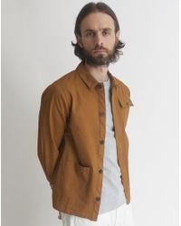 The Idle Man - 3 Pocket Chore Jacket Brown - Lyst