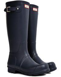 Hunter | Original Tall Rain Boot Navy | Lyst