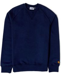 Carhartt WIP - Chase Sweatshirt Navy - Lyst
