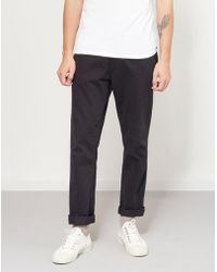 The Idle Man - Straight Leg Chino Black - Lyst