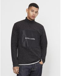 Soulland - Ripped Turtleneck Sweatshirt Black - Lyst