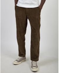 The Idle Man - Relaxed Cord Trouser Khaki - Lyst