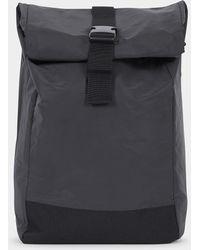 The Idle Man - Waterproof Roll Top Backpack Black - Lyst