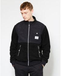 Poler - Half Fleece Jacket Black - Lyst