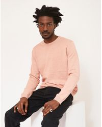 The Idle Man - Crew Neck Knitted Jumper Pink - Lyst