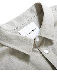 The Idle Man - Chambray Shirt Green - Lyst