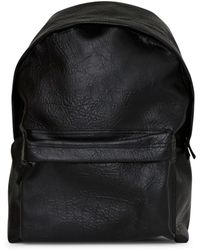 The Idle Man - Leather Look Backpack Black - Lyst