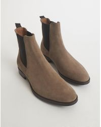 The Idle Man - Suede Chelsea Boot Grey - Lyst