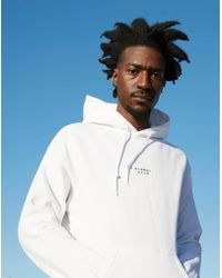 The Idle Man - Sunday Club Embroidered Over Head Hoodie White - Lyst