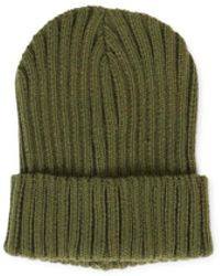 fcc17c44d34 Multi Strapback Hat. £49. HBX · The Idle Man - Chunky Ribbed Beanie Green -  Lyst