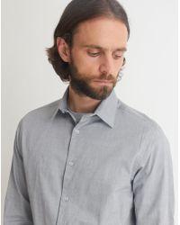 The Idle Man - Smart Regular Oxford Shirt Grey - Lyst