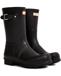 HUNTER - Original Short Rain Boot Black - Lyst