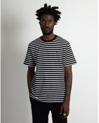 Carhartt WIP - Short Sleeve Robie Striped T-shirt Black & White - Lyst
