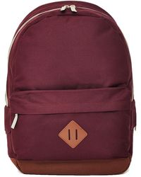 The Idle Man - Heritage Backpack Burgundy - Lyst