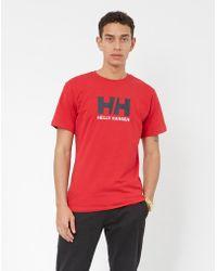 Helly Hansen - Logo T-shirt Red - Lyst