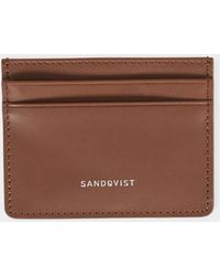 Sandqvist - Fred Leather Card Holder Cognac Brown - Brown - Lyst