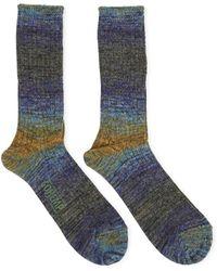 Anonymous Ism - Go Hemp Splash Blue & Yellow/green Socks - Blue - Lyst