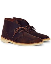 Clarks - Leather Desert Boot Brown - Lyst