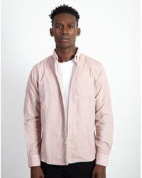 The Idle Man - Corduroy Shirt Pink - Lyst