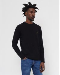 Farah - Rosecroft Knit Jumper Black - Lyst