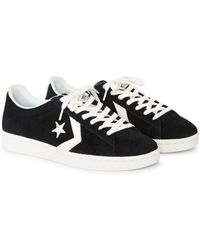 16964e1145a1 Lyst - Converse Pro Leather  76 Suede Ox Black in Black for Men