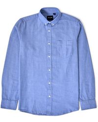 Only & Sons - Alvaro Long Sleeve Oxford Shirt Blue - Lyst