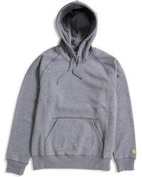 Carhartt WIP - Hooded Chase Sweatshirt Grey - Lyst