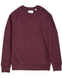 The Idle Man - Organic Raglan Sweatshirt Purple - Lyst