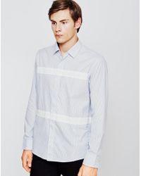 Soulland - Asklund Shirt White & Blue - Lyst