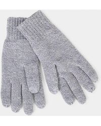 The Idle Man - Knitted Thinsulate Gloves Grey - Lyst