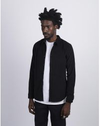 The Idle Man - Fine Corduroy Shirt Black - Lyst