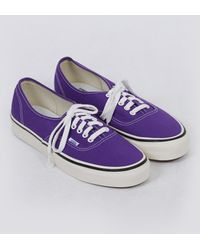 89459c15cac47c Lyst - Vans Authentic Plimsolls In Vintage Suede in Metallic for Men