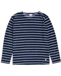 Armor Lux - Mariniere Heritage Sweatshirt Blue & White - Lyst