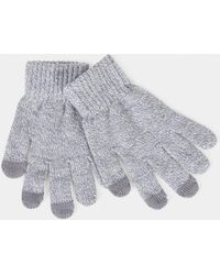 The Idle Man - Smart Touch Gloves Grey - Lyst