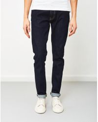 Edwin - Ed-85 Slim Tapered Drop Crotch Red Listed Selvage Denim Rinsed - Lyst