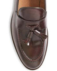 The Idle Man - Leather Loafer Burgundy - Lyst