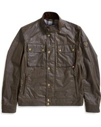 Belstaff - Racemaster Wax Jacket Olive Green - Lyst