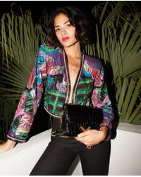 The Kooples - Jacket With Parrot Print And Sequins - Lyst