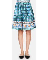 Peter Pilotto | Printed Cotton Mini Skirt | Lyst