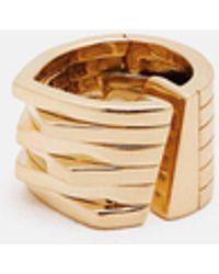 Repossi | 1 Gold Small Earring Antifer 6 Rows | Lyst