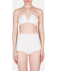 Rosetta Getty - Two Piece Adjustable Neck Swimsuit - Lyst