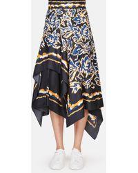 Peter Pilotto | Silk Twill Scarf Skirt | Lyst