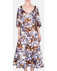 Erdem - Karol Exposed Shoulder Full Skirt Dress - Lyst