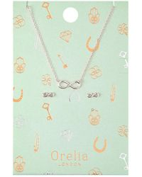 Orelia - Infinity Earring Necklace - Lyst