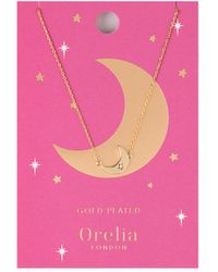 Orelia - Moon Charm Necklace - Lyst