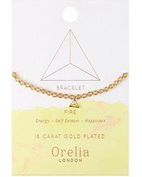 Orelia - Fire Element Beaded Bracelet - Lyst