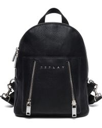 Replay - Backpack With Double Zipper - Lyst